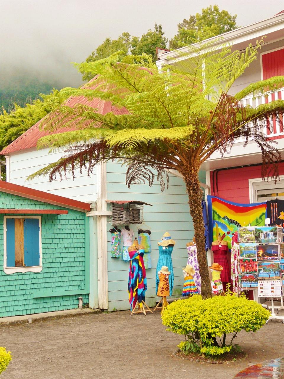 Les cases créoles à la Réunion dans le cirque de Salazie à Hell Bourg