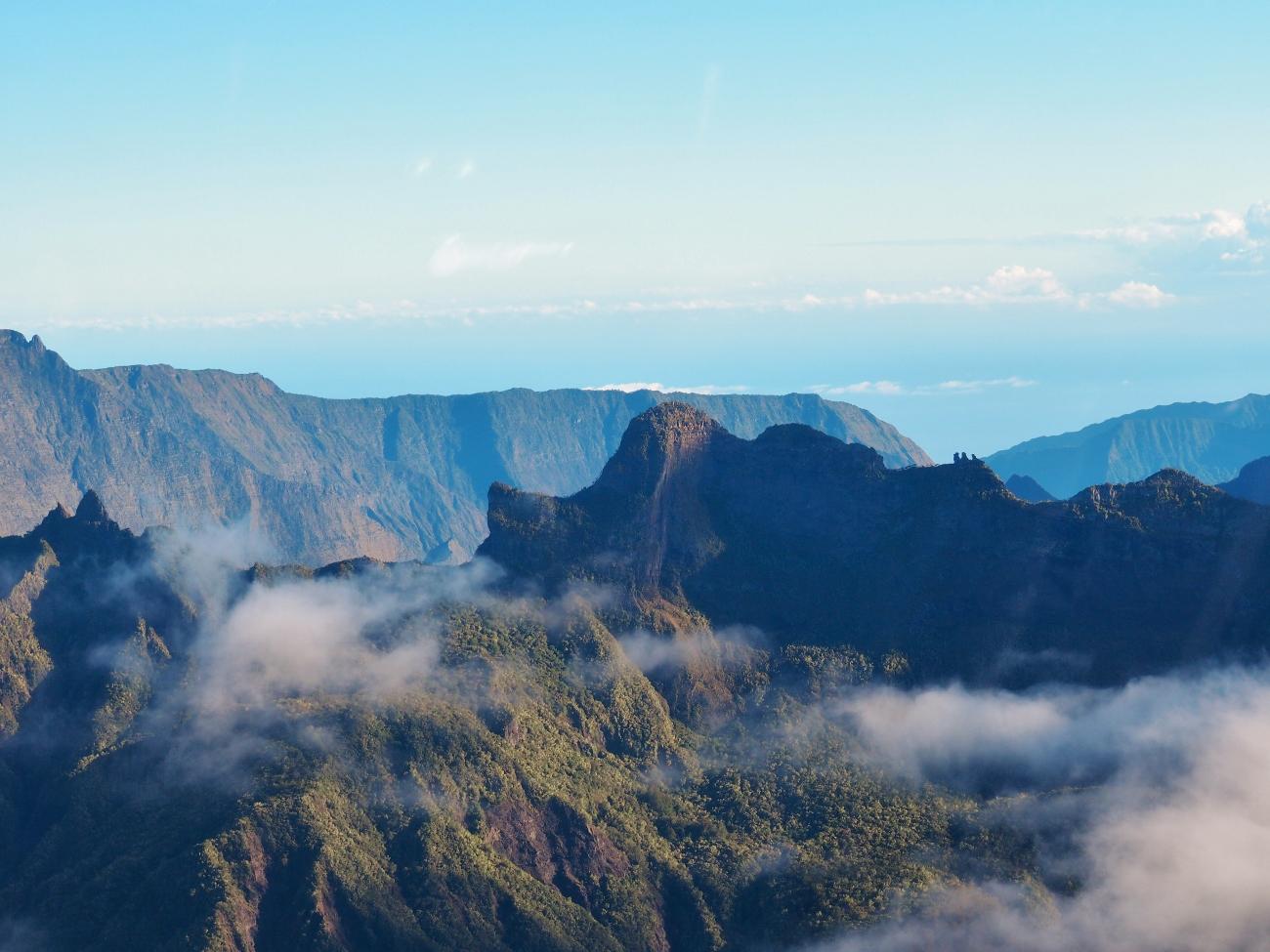 Les trois salazes vue d'hélicoptère à la Réunion