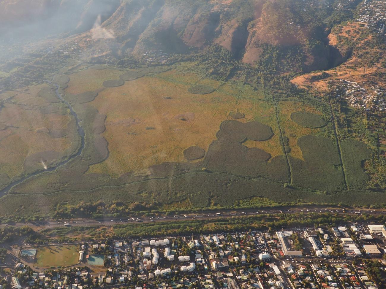 Hélicoptère à la Réunion avec Saint-Paul