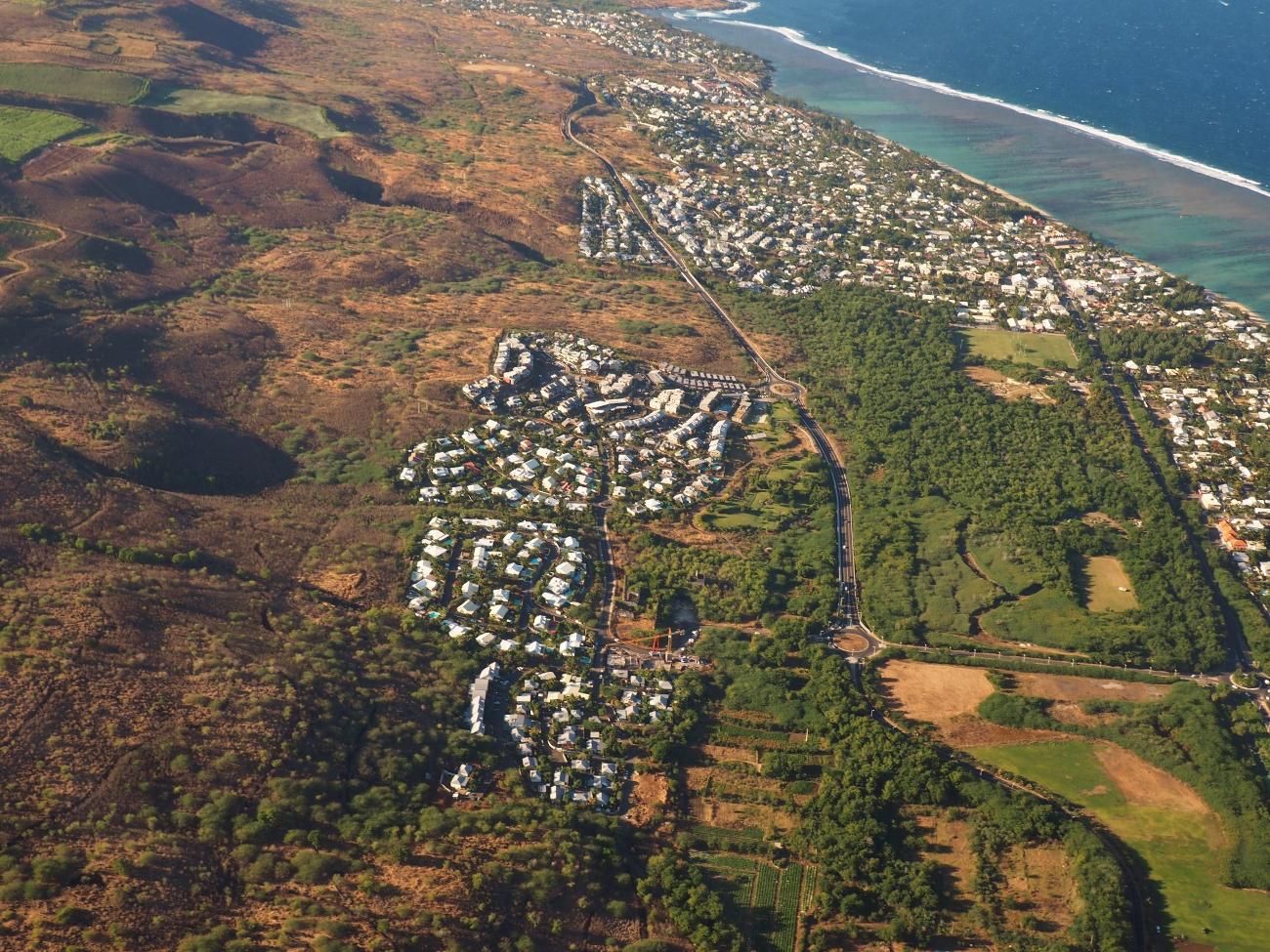la zone résidentielle de Vert Lagon face au Lagon à la Réunion