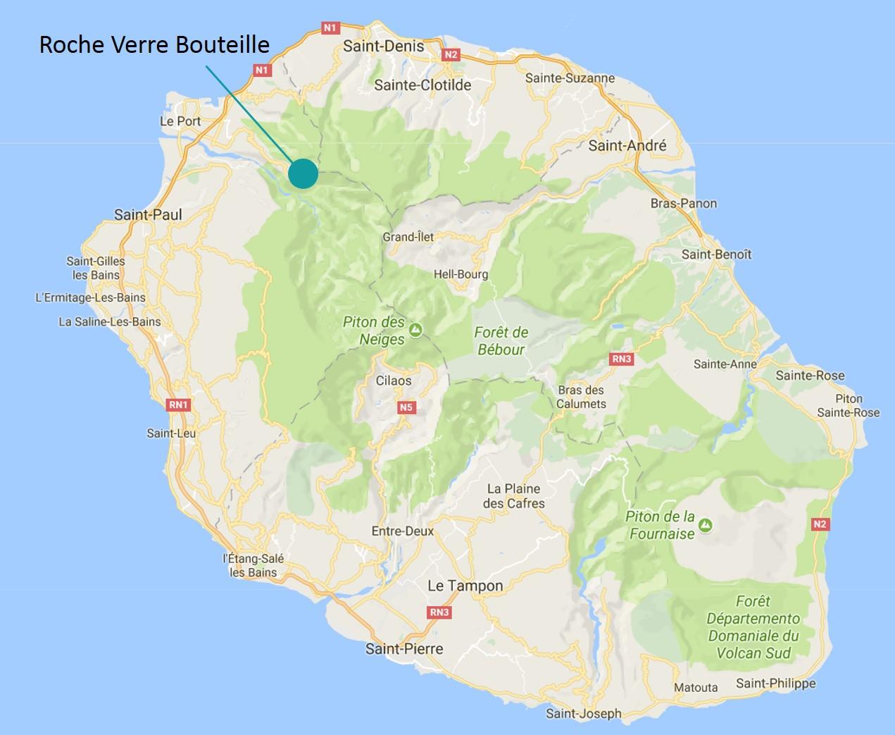 Randonnée Roche Verre Bouteille à Dos d'Ane
