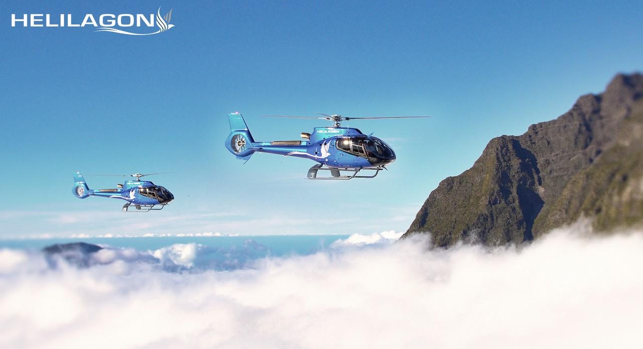 helicopter flight reunion island