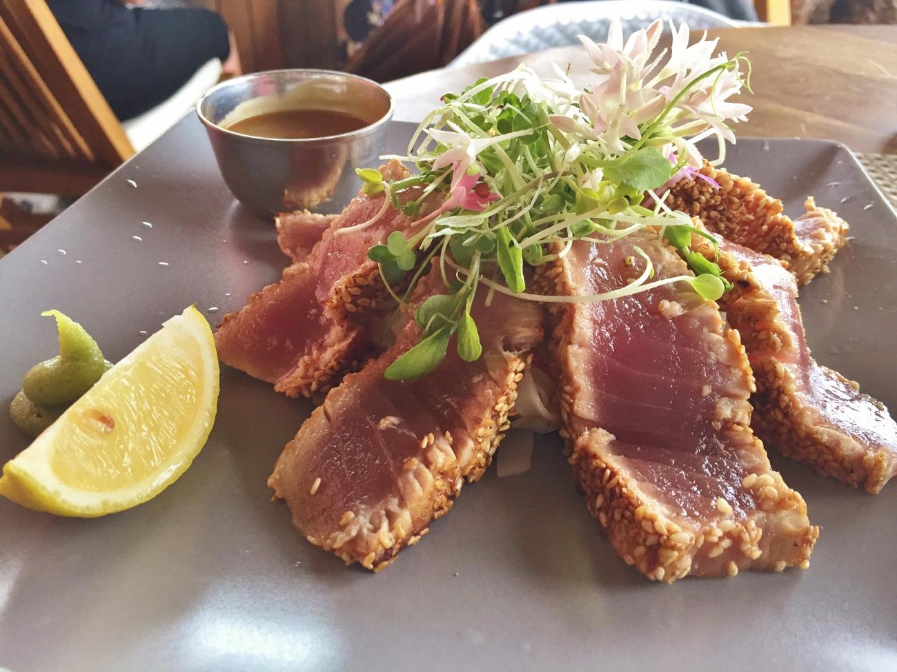 Restaurant la Bobine et Tataki de thon