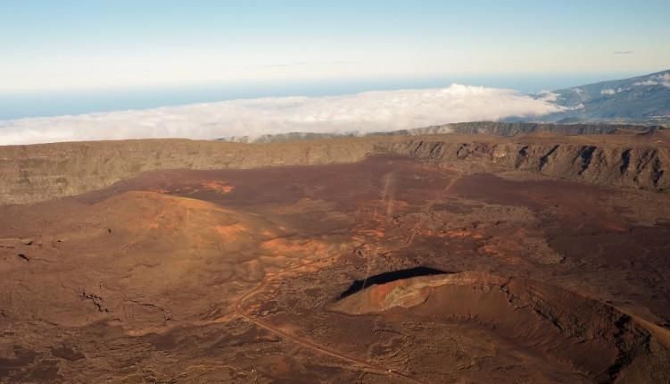 Le volcan du piton de la Fournaise à la Réunion