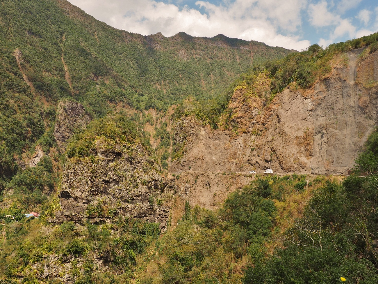 La route aux 400 virages menant à Cilaos