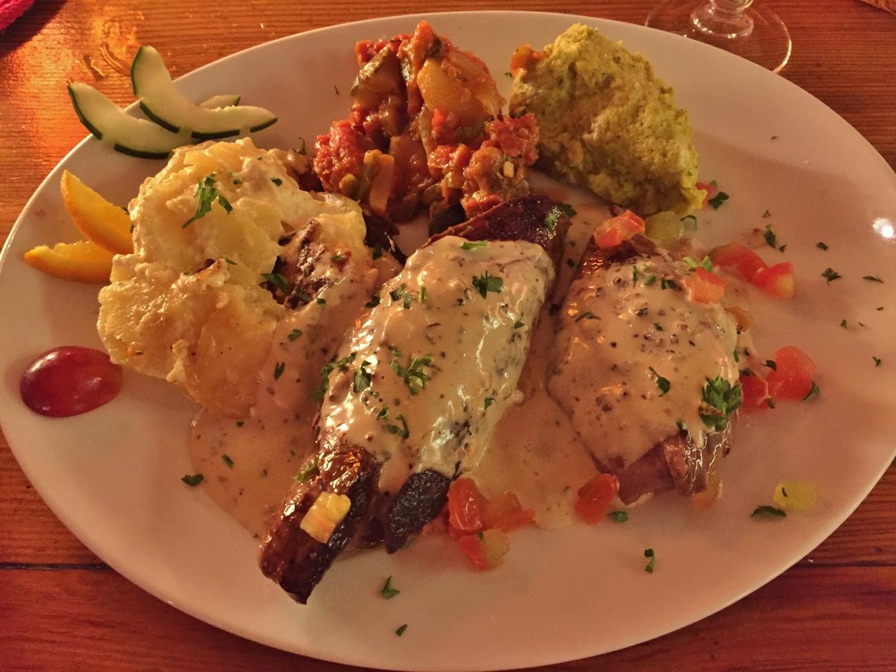 Les plats du restaurant le Manta à la Réunion