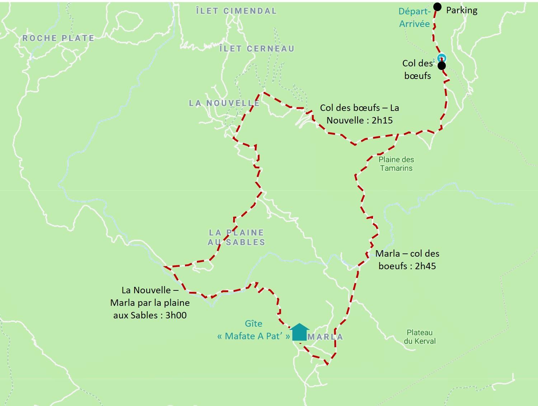 Randonnée dans le cirque de Mafate : Col des boeufs - La Nouvelle - Marla par la plaine aux Sables