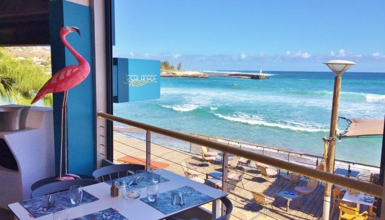 Restaurant L'Esplanade aux Roches Noires avec vue sur le port