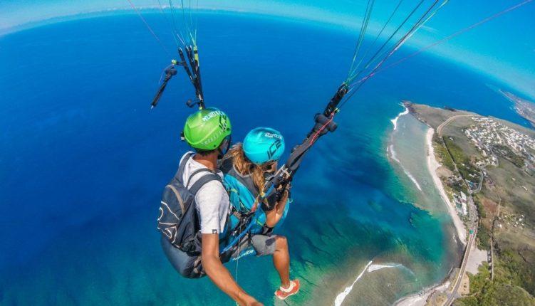 vue depuis un vol en parapente à La Réunion