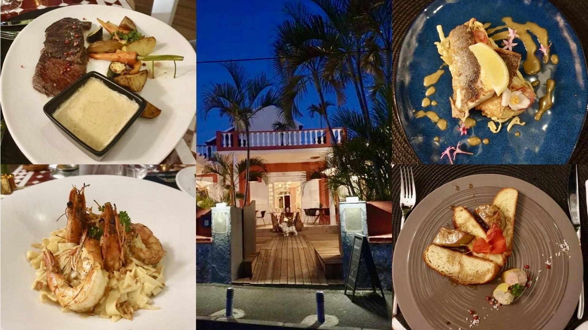 Restaurant la Villa des Roches à Saint Gilles les Bains